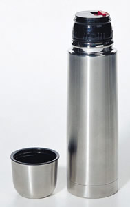 Thermos Container Uses Thermal Insulation by Ron Kurtus